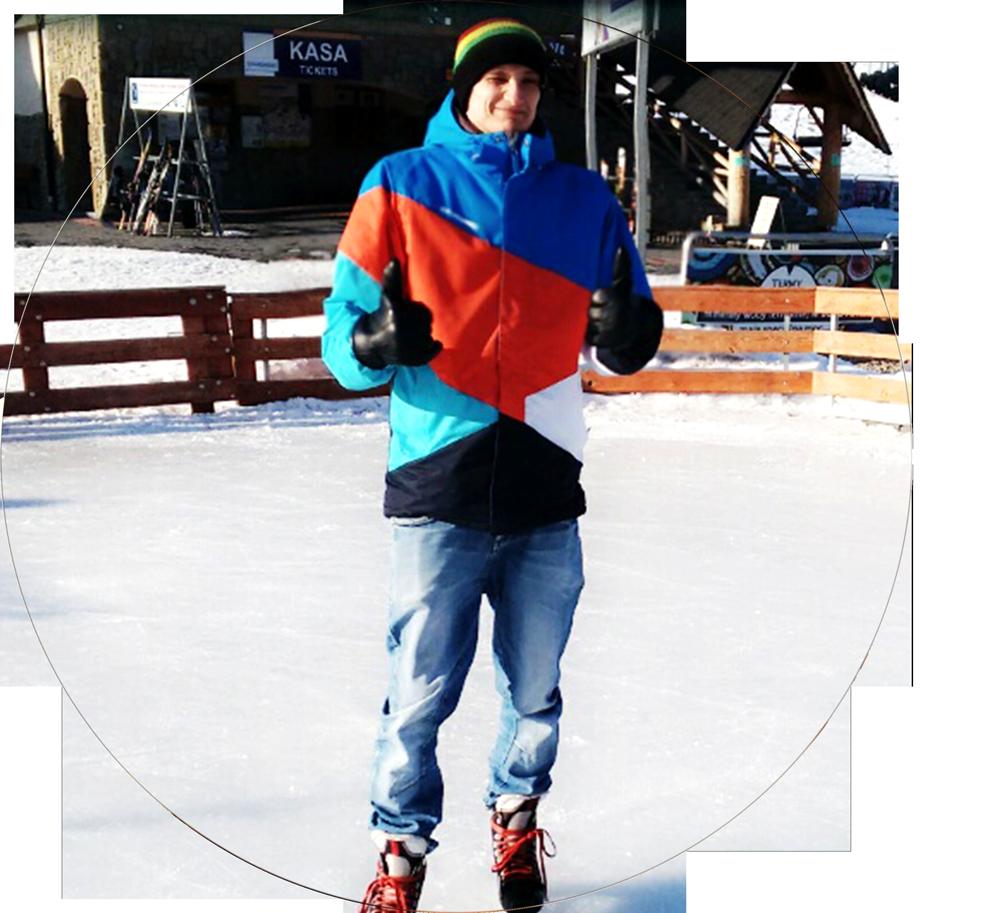 Instruktor freestyle'u na łyżwach